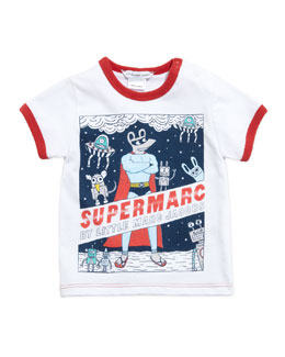 Little Marc Jacobs Supermarc Short-Sleeve Ringer Tee, 3-18 Months