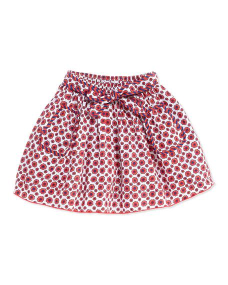 Floral-Print Woven Skirt, Girls' 6-10