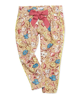 Little Marc Jacobs Floral-Print Pleated Pants, Sizes 6-10