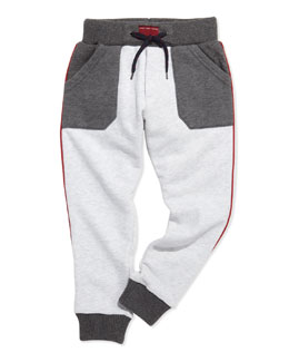 Little Marc Jacobs Colorblock Sweatpants, Gray, Boys' 2-5