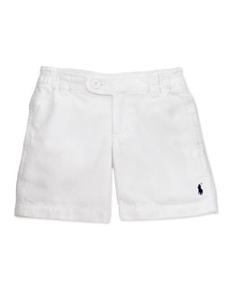 Ralph Lauren Childrenswear Vintage Varsity Shorts, White, 9-24 Months