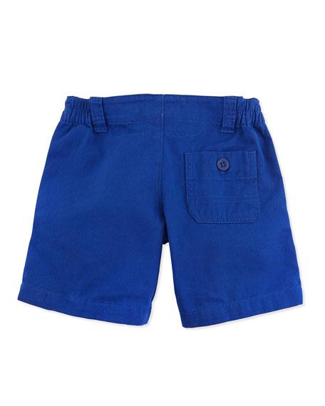 Vintage Varsity Shorts, Blue, Toddler Boys' 2T-3T