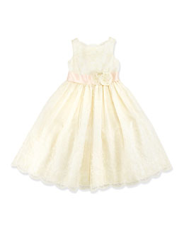 Ralph Lauren Childrenswear Embroidered Silk Organza Dress, Girls' 4-6X