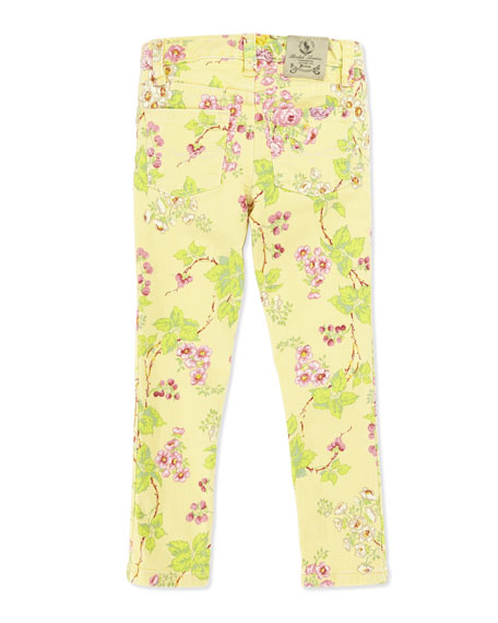 Floral-Print Bowery Skinny Jeans, Girls' 4-6X