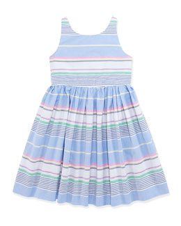 Ralph Lauren Childrenswear Little Run On Oxford Dress, Girls' 4-6X