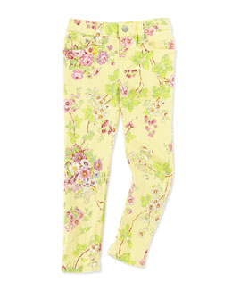 Ralph Lauren Childrenswear Floral-Print Bowery Skinny Jeans, Toddler Girls' 2T-3T