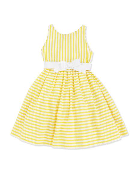 Vintage Seersucker Dress, Yellow, 2T-3T