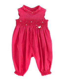 Tartine et Chocolat Smocked Sleeveless Romper, Fuchsia, 1M-18M