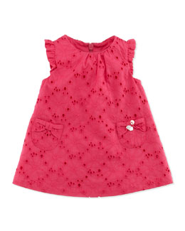 Tartine et Chocolat Sleeveless Eyelet Dress, Fuchsia, 1m-18m