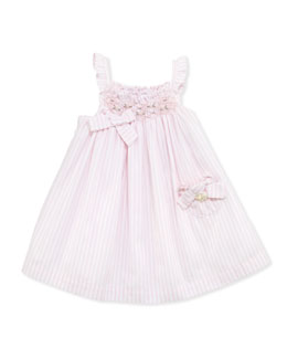 Tartine et Chocolat Baby Girls' Striped Smocked Dress, Pink, 1m-18m