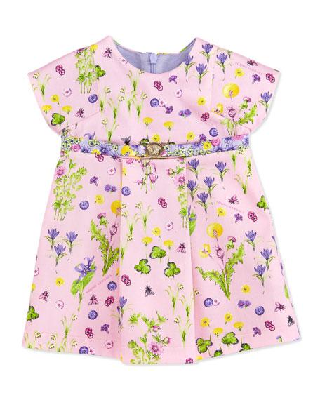 Floral-Print Dress, Pink, 9-18 Months