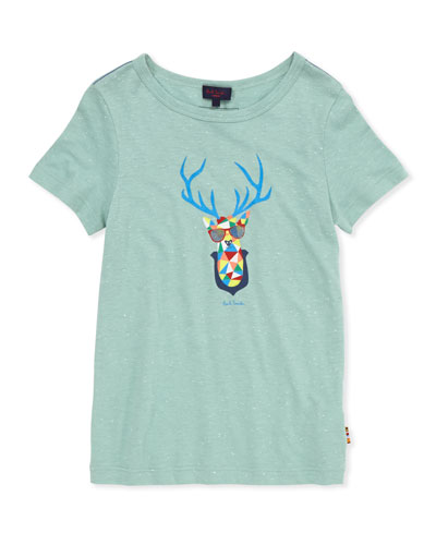 Paul Smith Toddler Boys' Deer-Head-Print Tee, Sizes 2-6