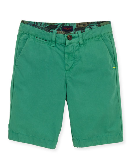 Toddler Boys' Bermuda Shorts, Green, Sizes 2-6