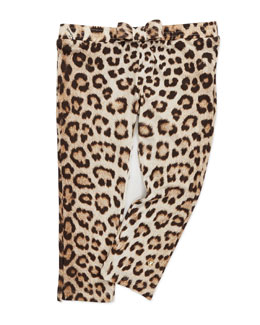 Roberto Cavalli Leopard-Print Leggings with Bow, 8-10