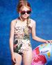 Leopard-Print One-Piece Swimsuit, 8-10