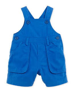 Tartine et Chocolat Cotton-Twill Overalls, Blue, 1m-18m