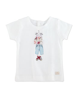 Lili Gaufrette Lauraine Short-Sleeve Graphic Tee, 3-18 Months