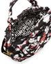 Pretty Nylon Pinwheel Baby Bag, Black