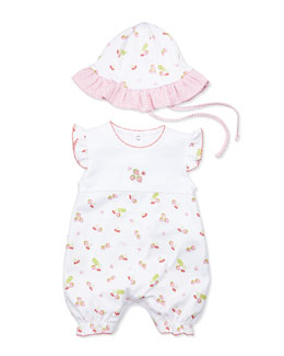Kissy Kissy Ambrosia Short-Playsuit, White/Red, 0-24 Months