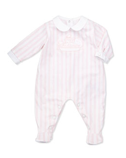 Tartine et Chocolat Girls' Striped Footie Pajamas, Pink, NB-18m