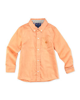 Andy & Evan Little S'Collar Button-Down Shirt, Orange, 2T-7