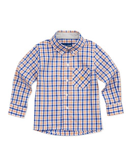 Andy & Evan Lord of The Gings Button-Down Shirt, Orange, 2T-7