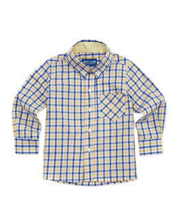 Andy & Evan Lord of The Gings: Button-Down Shirt, Yellow,  2T-7