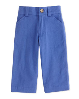 Andy & Evan Oh-What-A-Twill Dress Pants, Blue, 2T-7