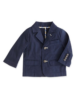 Andy & Evan The Porcelain Club: Two-Button Jacket, Navy, 2T-7