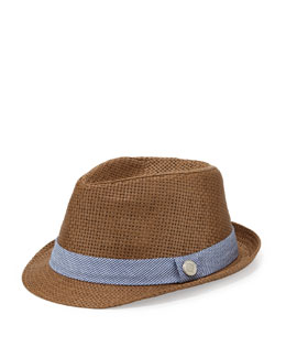 Andy & Evan Monte Carlo: Houndstooth Fedora Hat, Blue