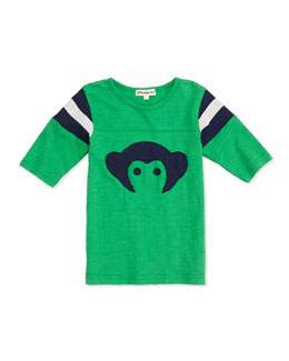 Appaman Slub Hockey-Jersey Tee, Green, 2T-10