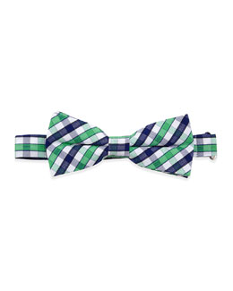 Appaman Gingham Check Bow Tie, Green