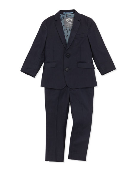 Mod Suit Jacket and Pants, Navy, Boys' 2T-10