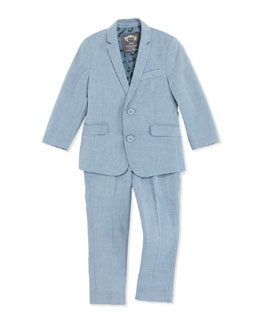 Appaman Mod Suit Jacket and Pants, Blue, Boys' 2T-10