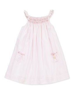 Tartine et Chocolat Toddler Girls' Striped Smocked Dress, Pink, 2-6