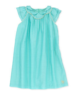 Tartine et Chocolat Glitter-Piped Pleated Voile Dress, Sizes 2-6