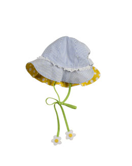 Florence Eiseman Infant Girls' Floral-Tie Hat, Blue/White