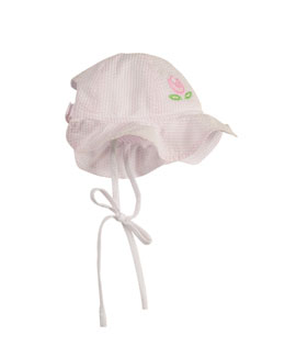 Florence Eiseman Infant Girls' Small World Hat, Pink/White