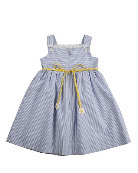 Girls' Flower-Pot Seersucker Dress, 2T-3T