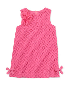 Lilly Pulitzer Little Lilly Lace Shift Dress, Pink, Sizes 2-10
