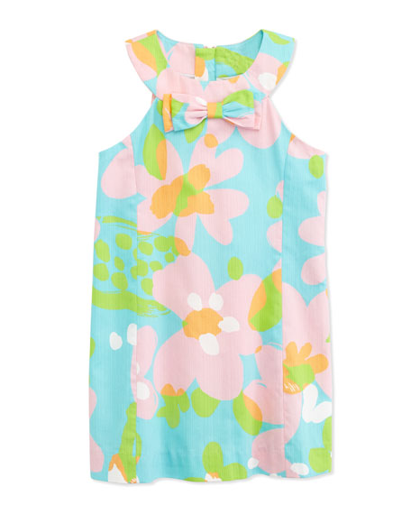 Inara Floral-Print Shift Dress, Multi, Sizes 2-10