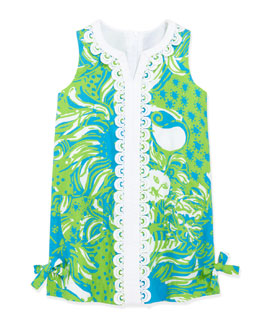Lilly Pulitzer Little Lilly Jungle-Print Classic Shift Dress, Limeade, Sizes 2-10