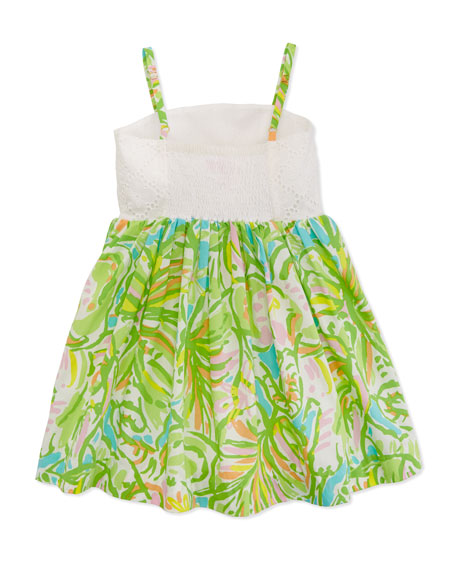 Little Chandie Eyelet Sundress, Multi, Sizes 4-10