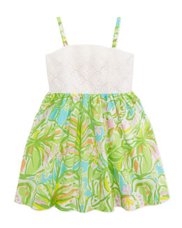 Lilly Pulitzer Little Chandie Eyelet Sundress, Multi, Sizes 4-10