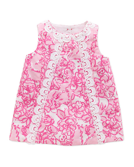 Baby Lilly Shift Dress, Pink, 3-24 Months