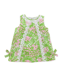 Lilly Pulitzer Baby Lilly Lion-Print Shift Dress, Pink,  3-24 Months