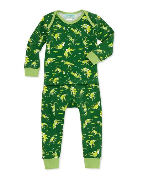 Dinosaur-Print Pajamas, 3-24 Months