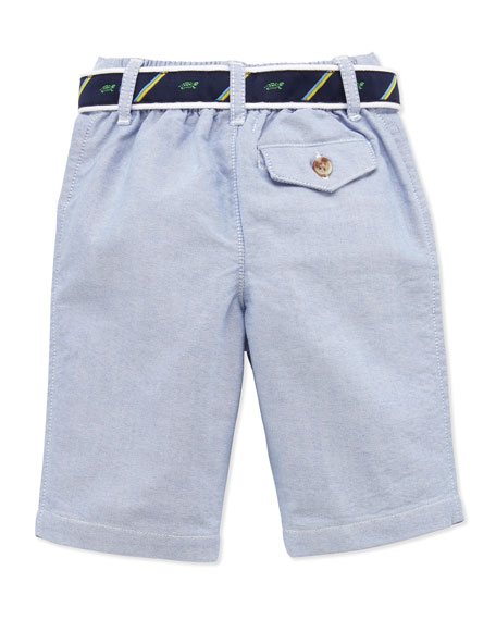 Stripe Jersey Polo & Oxford Pants Set, 3-12 Months