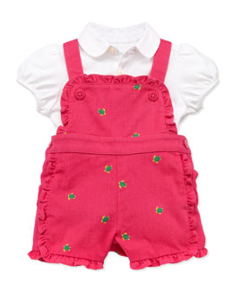 Ralph Lauren Childrenswear Mesh Polo & Schiffli Jumper Set, 3-12 Months