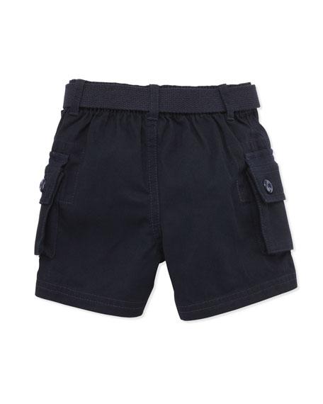 Plaid Shirt & Cargo Shorts Set, 9-24 Months
